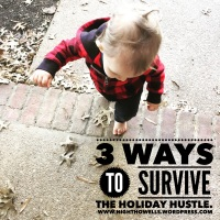 3 Ways to Survive the Holiday Hustle {Thoughts on Going, Getting, and Giving}